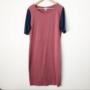 LuLaRoe Julia Short Sleeve Colorblock Dress